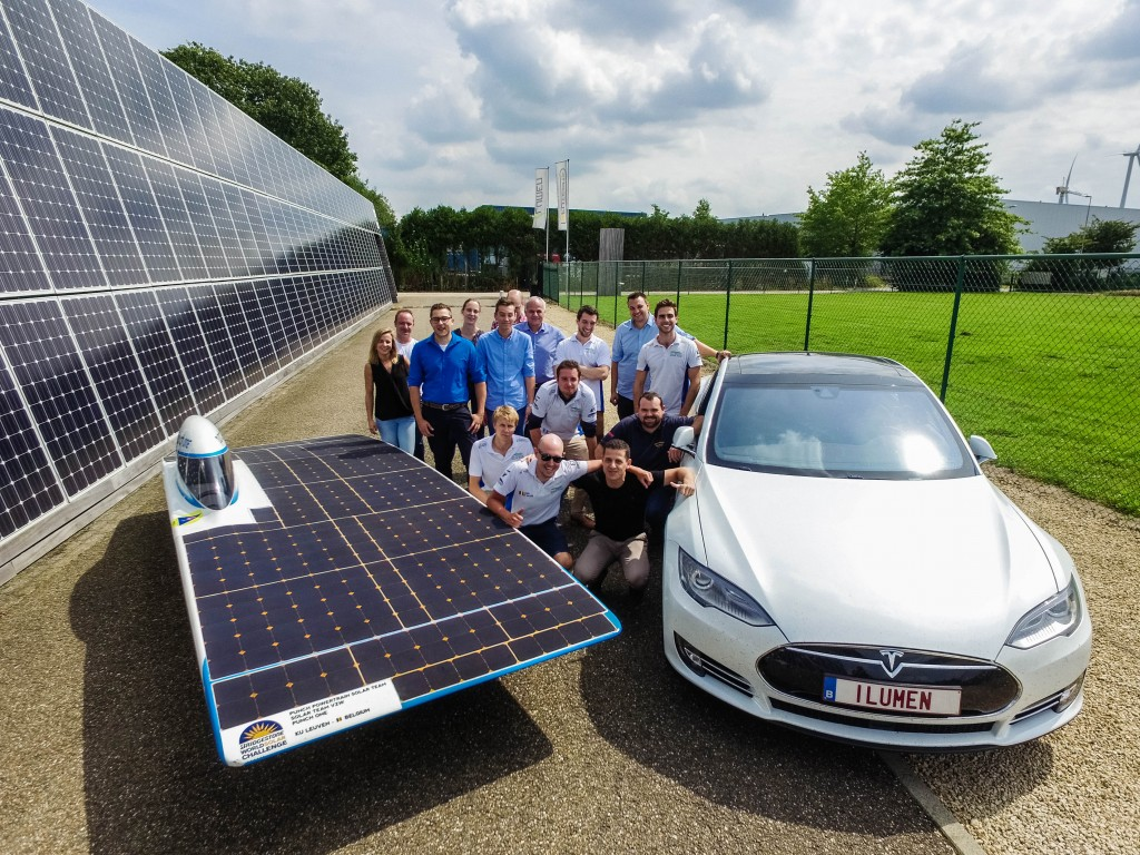 Punch One Solar Car Visits ILumen Headquarters European